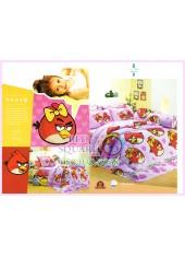 ชุดผ้าปูที่นอน ผ้าปูที่นอนผ้านวมลาย แองกี้เบิร์ด Angry Bird SATIN PK028