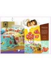 ชุดผ้าปูที่นอน ผ้าปูที่นอนผ้านวมลายปลานีโม่ Nemo SATIN PK029