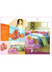 ชุดผ้าปูที่นอน ผ้าปูที่นอนผ้านวมลายปลานีโม่ Nemo SATIN PK030