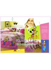 ชุดผ้าปูที่นอน ผ้าปูที่นอนผ้านวมลายมิกกี้เมาส์ Mickey Minnie SATIN PK031