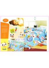 ชุดผ้าปูที่นอน ผ้าปูที่นอนผ้านวมลายการ์ตูนแมวน่ารัก SATIN PK034