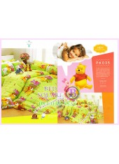 ชุดผ้าปูที่นอน ผ้าปูที่นอนผ้านวมลายหมีพูห์ Pooh Bear SATIN PK035