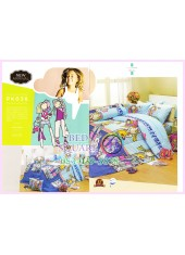 ชุดผ้าปูที่นอน ผ้าปูที่นอนผ้านวมลาย Groovy Chick SATIN PK036