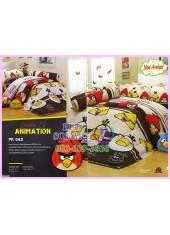 ชุดผ้าปูที่นอน ผ้าปูที่นอนผ้านวมลาย แองกี้เบิร์ด Angry Bird SATIN PK042