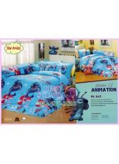 ชุดผ้าปูที่นอน ผ้าปูที่นอนผ้านวมลาย Lilo & Stitch SATIN PK043