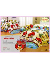 ชุดผ้าปูที่นอน ผ้าปูที่นอนผ้านวมลาย แองกี้เบิร์ด Angry Bird SATIN PK045
