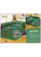 ชุดผ้าปูที่นอน ผ้าปูที่นอนผ้านวมลาย Rex เร็กซ์นักรบพันธุ์อีโว่ SATIN PK046
