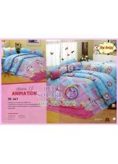 ชุดผ้าปูที่นอน ผ้าปูที่นอนผ้านวมลายแมวมารี Marie SATIN PK047