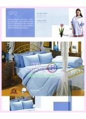 ผ้าปูที่นอน ผ้านวม พรีเมียร์ซาติน PREMIER SATIN SP2 สีพื้น สีฟ้า