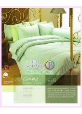ผ้าปูที่นอน ผ้านวม พรีเมียร์ซาติน PREMIER SATIN SP3 สีพื้น สีเขียว