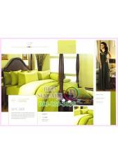 ผ้าปูที่นอน ผ้านวม พรีเมียร์ซาติน Satin Royal Touch Cotton 100% PREMIER SATIN SPC001 สีพื้น สีเขียว