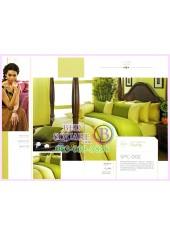 ผ้าปูที่นอน ผ้านวม พรีเมียร์ซาติน Satin Royal Touch Cotton 100% PREMIER SATIN SPC002 สีพื้น สีเขียว