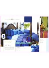 ผ้าปูที่นอน ผ้านวม พรีเมียร์ซาติน Satin Royal Touch Cotton 100% PREMIER SATIN SPC003 สีพื้น สีน้ำเงิน