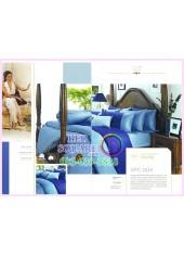 ผ้าปูที่นอน ผ้านวม พรีเมียร์ซาติน Satin Royal Touch Cotton 100% PREMIER SATIN SPC004 สีพื้น สีฟ้า