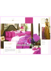 ผ้าปูที่นอน ผ้านวม พรีเมียร์ซาติน Satin Royal Touch Cotton 100% PREMIER SATIN SPC005 สีพื้น สีชมพู