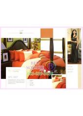 ผ้าปูที่นอน ผ้านวม พรีเมียร์ซาติน Satin Royal Touch Cotton 100% PREMIER SATIN SPC007 สีพื้น สีส้ม