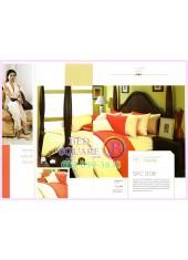 ผ้าปูที่นอน ผ้านวม พรีเมียร์ซาติน Satin Royal Touch Cotton 100% PREMIER SATIN SPC008 สีพื้น สีส้ม