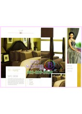 ผ้าปูที่นอน ผ้านวม พรีเมียร์ซาติน Satin Royal Touch Cotton 100% PREMIER SATIN SPC009 สีพื้น สีน้ำตาล