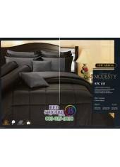 ชุดเครื่องนอนสีพื้น สีดำ SPC015 Premier Satin ผ้าปูที่นอน ผ้านวม Cotton 100%พรีเมียร์ ซาติน