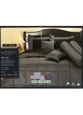 ชุดเครื่องนอนสีพื้น สีเทา SPC016 Premier Satin ผ้าปูที่นอน ผ้านวม Cotton 100%พรีเมียร์ ซาติน