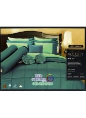 ชุดเครื่องนอนสีพื้น สีเขียวเข้มน้ำทะเล SPC017 Premier Satin ผ้าปูที่นอน ผ้านวม Cotton 100%พรีเมียร์ ซาติน
