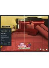 ชุดเครื่องนอนสีพื้น สีแดงส้ม SPC020 Premier Satin ผ้าปูที่นอน ผ้านวม Cotton 100%พรีเมียร์ ซาติน
