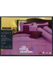 ชุดเครื่องนอนสีพื้น สีชมพู SPC022 Premier Satin ผ้าปูที่นอน ผ้านวม Cotton 100%พรีเมียร์ ซาติน