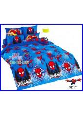 ผ้าปูที่นอนผ้านวมลายสไปเดอร์แมน Spider Man SD17 ชุดเครื่องนอน TOTO