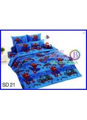 ผ้าปูที่นอนผ้านวมลายสไปเดอร์แมน Spider Man SD21 ชุดเครื่องนอน TOTO