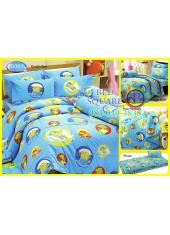 ผ้าปูที่นอนทิวลิป ผ้านวม ลายสปอนจ์บ๊อบ SpongeBob S001 ชุดเครื่องนอน Tulip