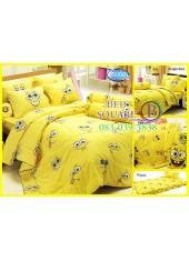 ผ้าปูที่นอนทิวลิป ผ้านวม ลายสปอนจ์บ๊อบ SpongeBob S002 ชุดเครื่องนอน Tulip