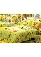 ผ้าปูที่นอนทิวลิป ผ้านวม ลายสปอนจ์บ๊อบ SpongeBob S004 ชุดเครื่องนอน Tulip