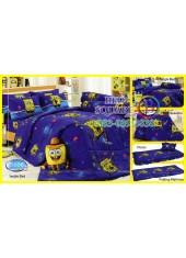 ผ้าปูที่นอนทิวลิป ผ้านวม ลายสปอนจ์บ๊อบ SpongeBob S006 ชุดเครื่องนอน Tulip