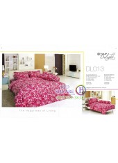 ผ้าปูที่นอนผ้านวม ทิวลิป ดีไลท์ DL013 ชุดเครื่องนอน Tulip Delight
